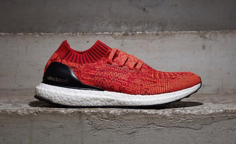 Cheap Priced adidas Ultra Boost Uncaged Solar Red Black