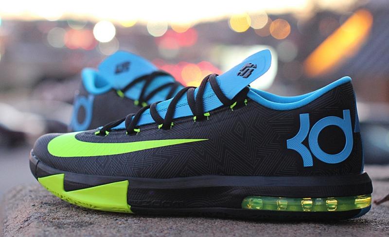 Nike Zoom KD 6 Black Volt Vivid Blue