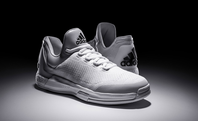 brand new db019 e9c80 adidas Crazylight Boost Triple White James Harden