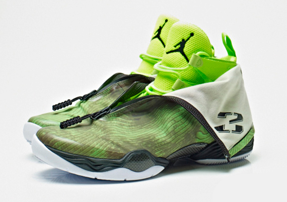 Air Jordan 28 Black / White - Electric Green