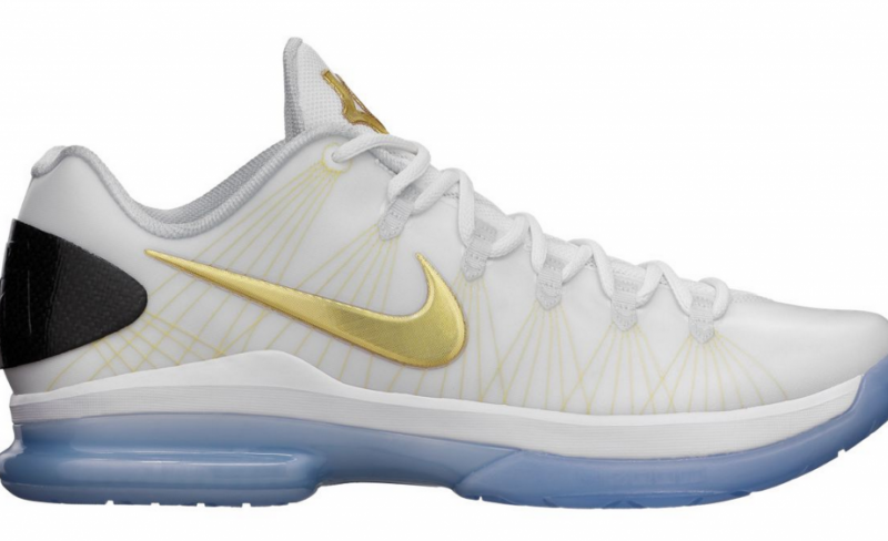 ShoeFax - Nike KD 5 Elite - White / Metallic Gold
