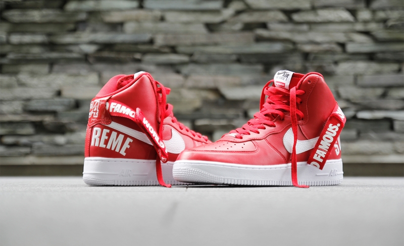 newest f13f3 a0a4c Nike Air Force 1 High Supreme Red