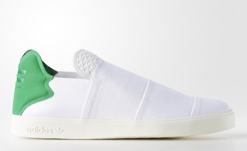 Pharrell adidas Elastic Slip On Pink Beach Pack White