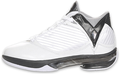 Air Jordan 2009 White / Metallic Silver - Black