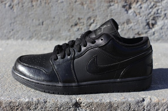 air jordan 1 low black black