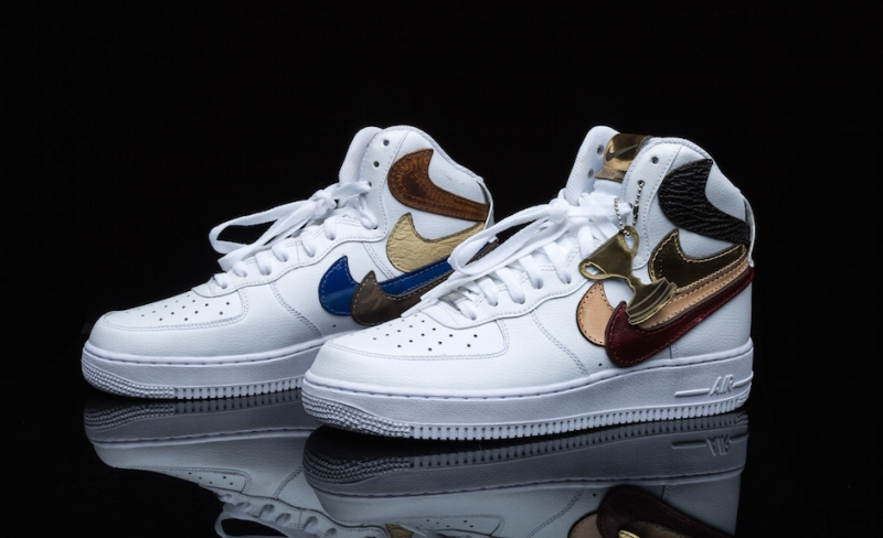 John Geiger Nike Air Force 1 High Misplaced Checks White